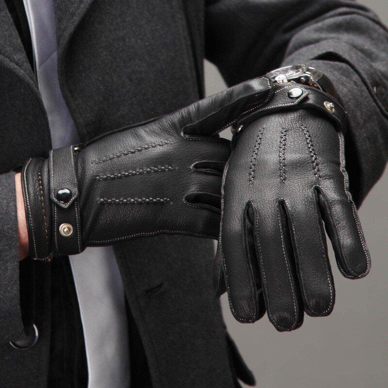 Pánské kožené rukavice Bond d3f9490566